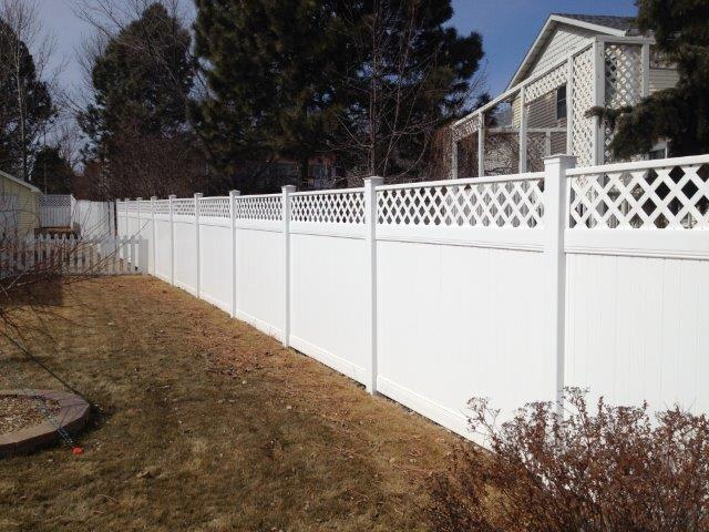 pvc fencing with lattice u2013 liberty fence company