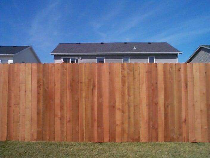 plain cedar fence