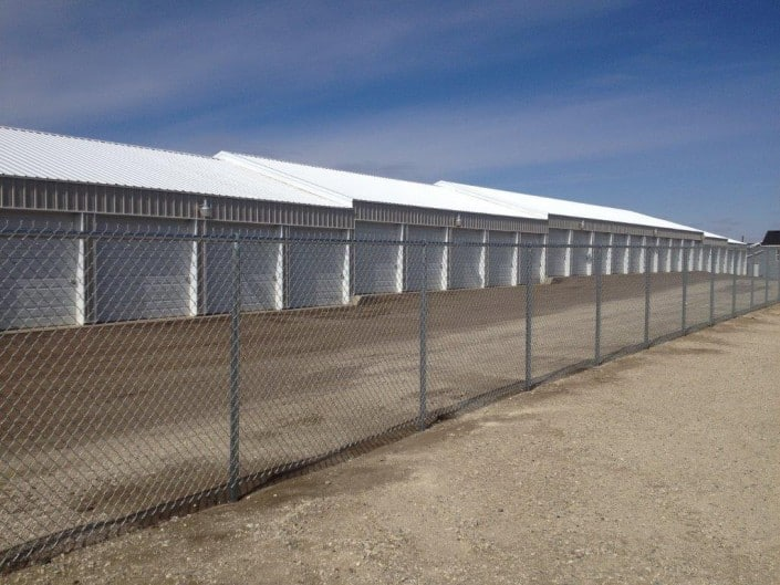 a commercial chain link fence