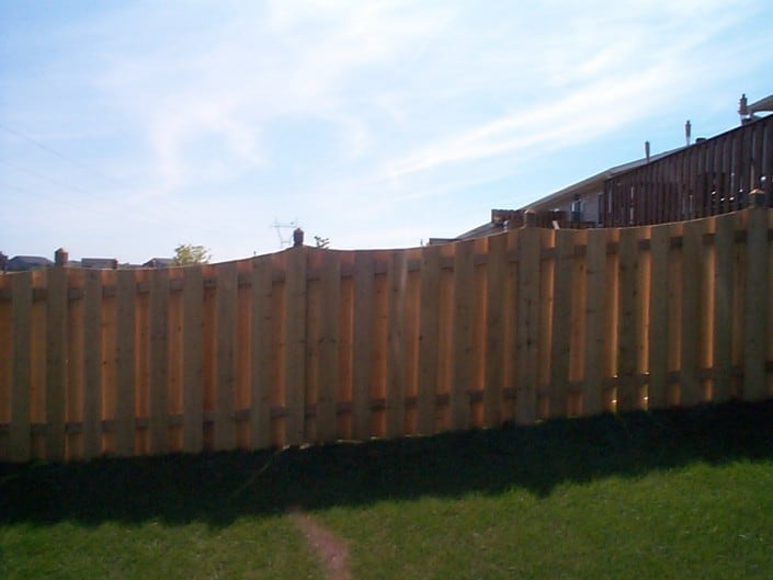 cedar fence - decorative