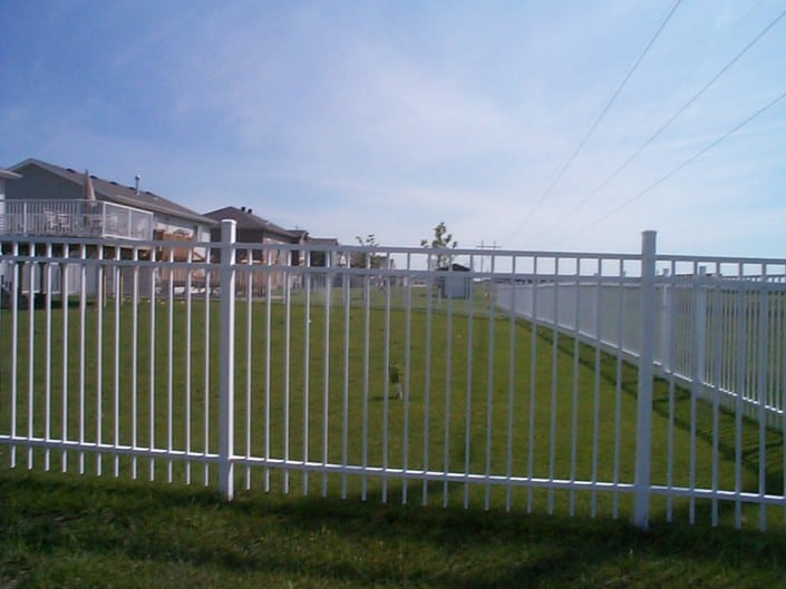 Aluminium Fence Installation – Metal Fence White