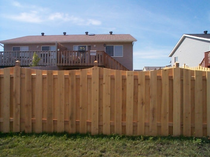 wood fence designed by liberty fence and deck