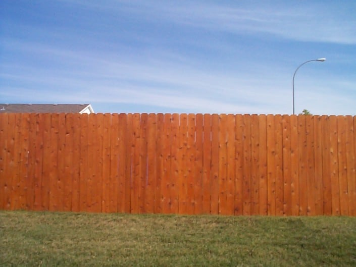 wood fence on lot