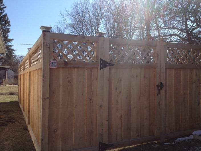 liberty fence and deck privacy wood fence