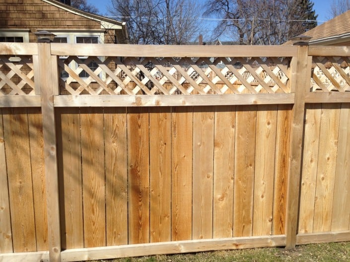 privacy decorative wood fence