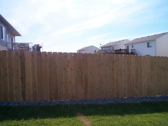 fence constructed with cedar