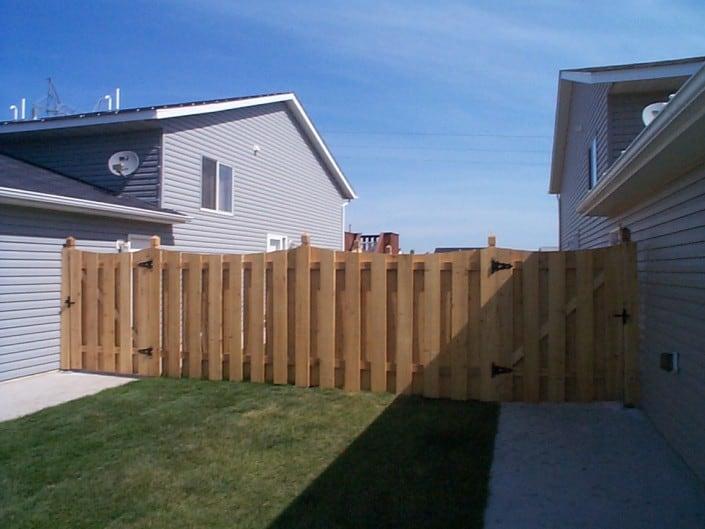 gate on a cedar fence