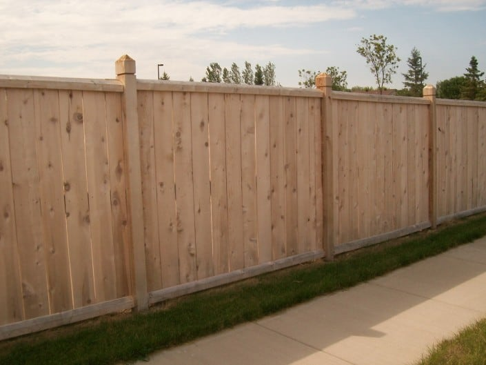 fence with decorative posts