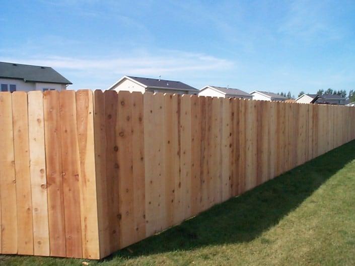 cedar fencing corner
