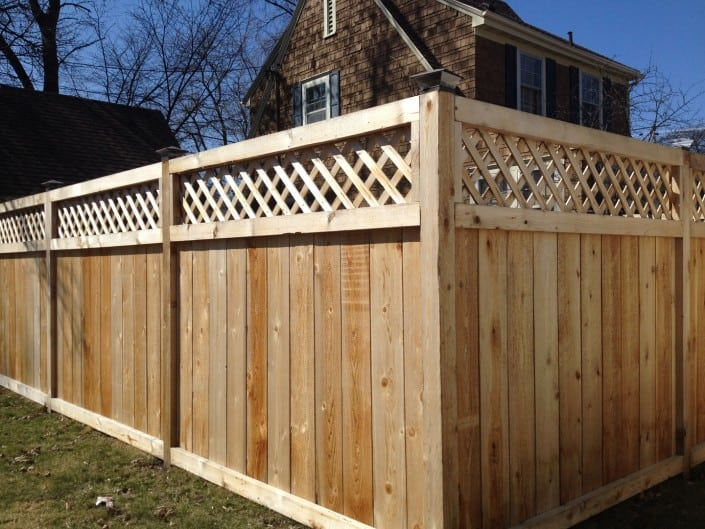 corner view of privacy fence