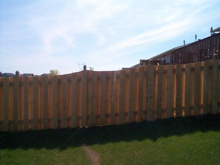 cedar fence - decorative