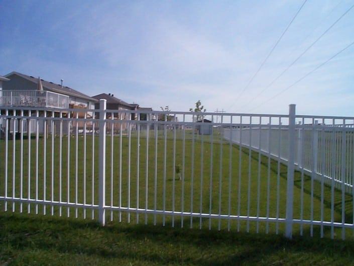 Aluminium Fence Installation – Metal Fence White