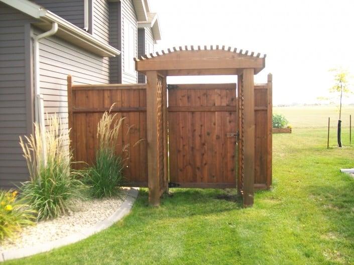 decorative gate on a fence