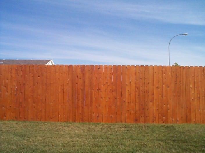 wood fence on lot
