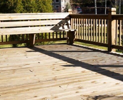 standard wood deck