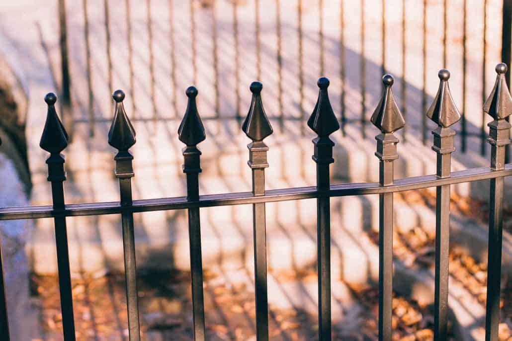stylish wrought-iron fencing