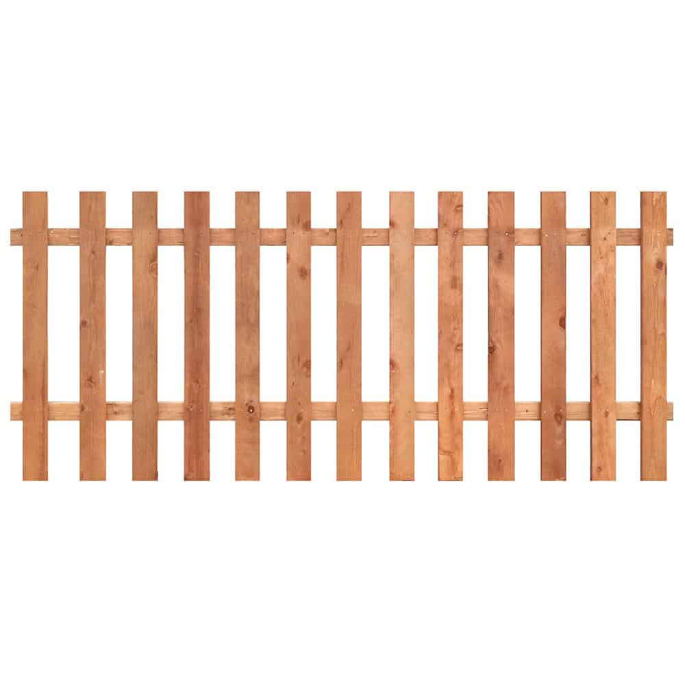 wood picket fencing