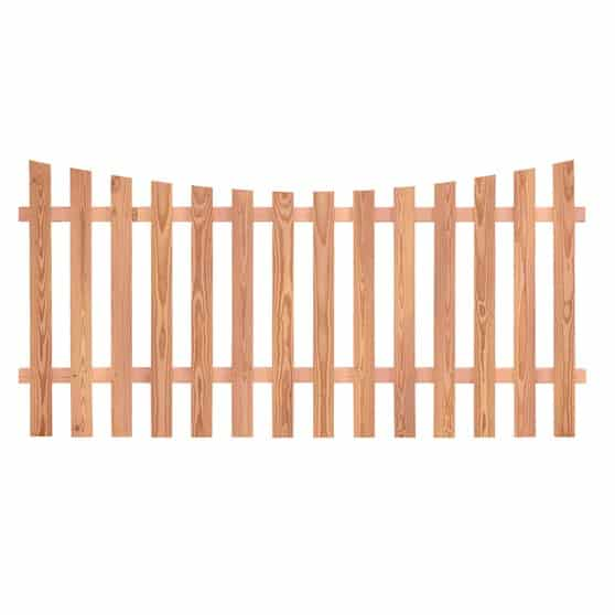 scalloped fencing
