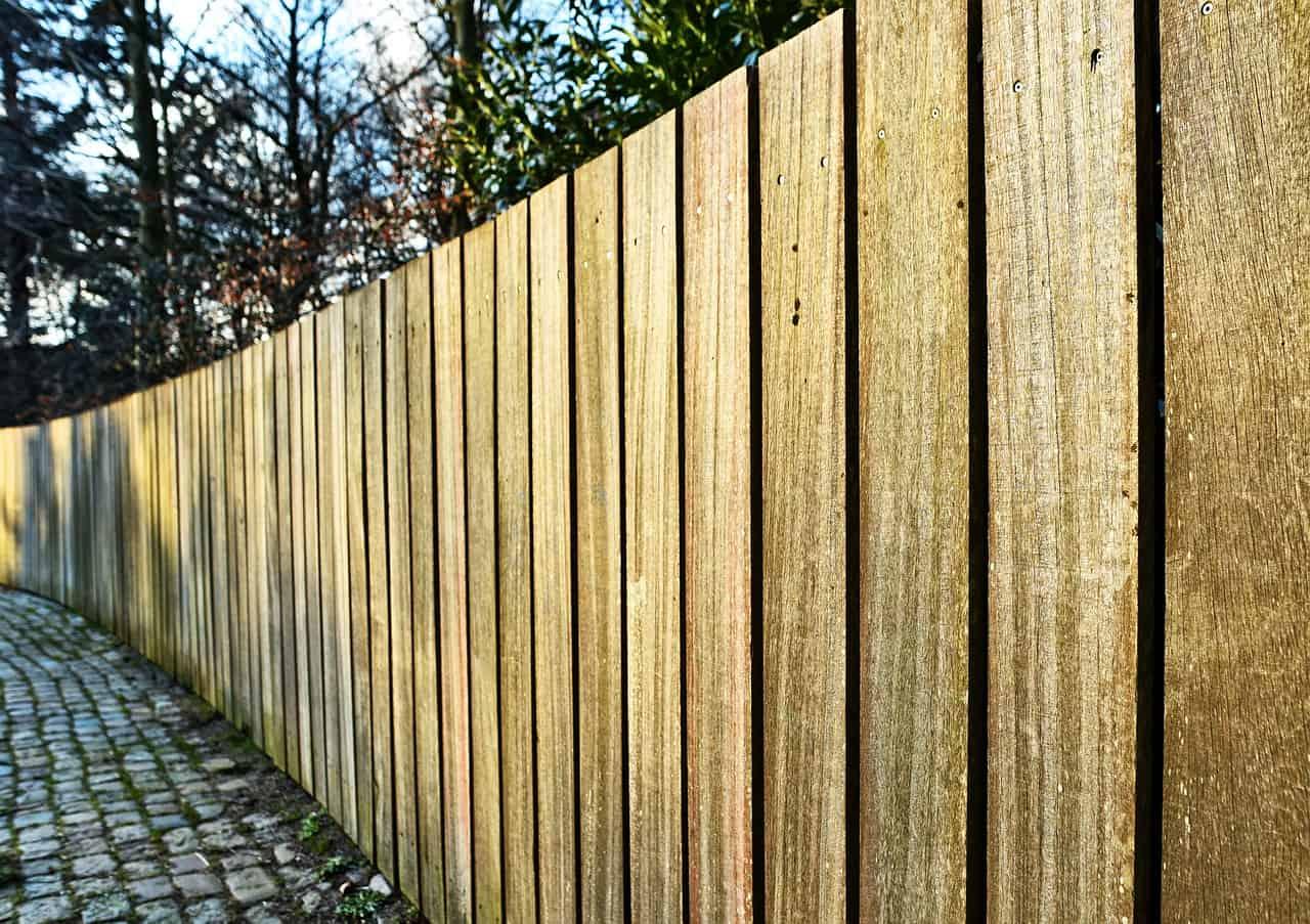 Damaged wood fence